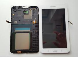 Pantalla Lcd + Tactil Con Marco Original Samsung Galaxy TAB 3 Lite SM-T110 T110 - Blanca