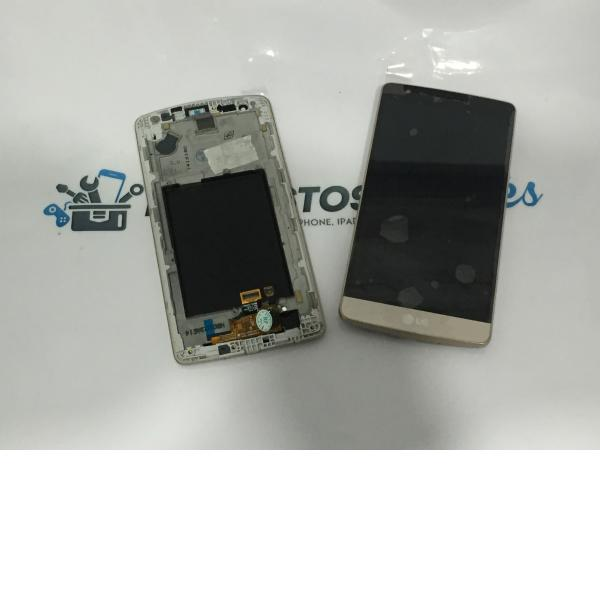 Pantalla LCD Display + Tactil con Marco para LG G3 Mini D722 - Oro