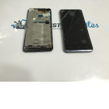 Pantalla LCD Display + Tactil con Marco para Wolder miSmart XLIM - Negra