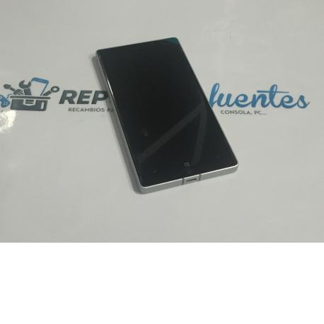 Pantalla LCD + Tactil con Marco Plata para Nokia Lumia 930
