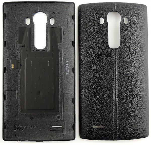 Carcasa Tapa Trasera Bateria de Cuero para LG G4 H815 - Negra