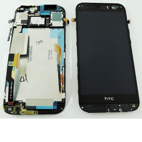Pantalla LCD Display + Tactil con Marco para HTC One M8, M8s - Negra