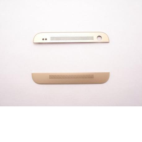Embellecedor Superior e Inferior para HTC One M8 - Oro