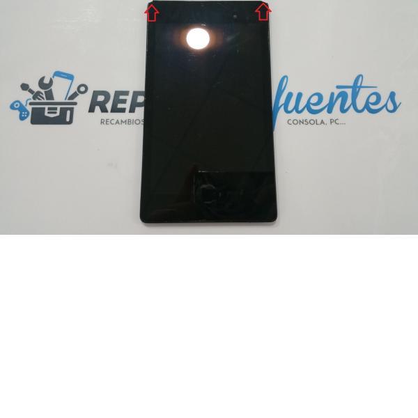 Pantalla LCD display + tactil con marco Asus Nexus 7 4G (2ND GEN) K009 - Recuperada