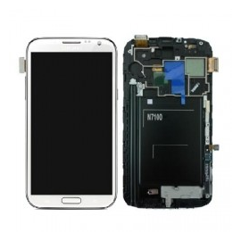 Pantalla Tactil + LCD Display Original para Samsung Note 2 N7100 - Blanca / GH9714112A