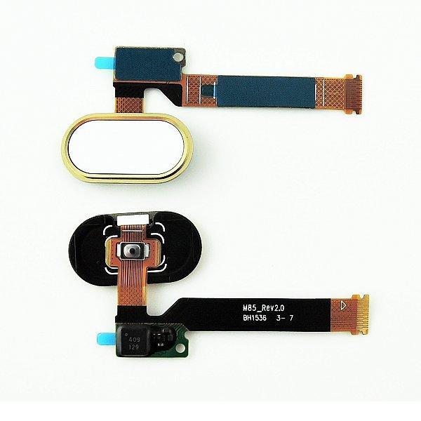Flex de Boton Home para Meizu MX5 Pro - Oro