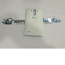 CARCASA TAPA TRASERA ORIGINAL LG G3 D855 CON NFC BLANCA / RECUPERADA