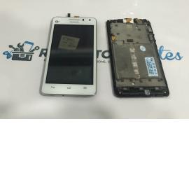 PANTALLA TACTIL + LCD DISPLAY CON MARCO PARA HUAWEI ASCEND G600 - BLANCA