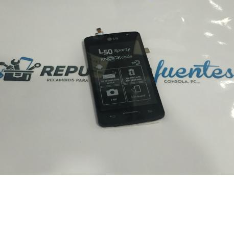 PANTALLA TACTIL + LCD DISPLAY CON MARCO PARA LG D210 L50 - NEGRA
