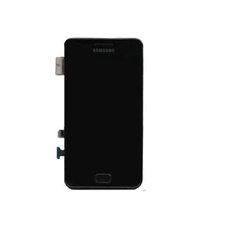 Pantalla completa lcd + tactil con marco original Samsung i9100 Galaxy S2 negra de desmontaje