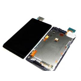 Repuesto pantalla lcd + tactil con marco Original Sony Xperia L C2104 C2105 s36h negra