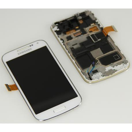 PANTALLA LCD DISPLAY + TACTIL CON MARCO ORIGINAL PARA SAMSUNG GALAXY S4 MINI GT-I9195 - BLANCA