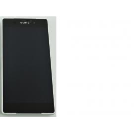 REPUESTO PANTALLA LCD + TACTIL CON MARCO SONY XPERIA Z2 D6502 D6503 L50W - BLANCA