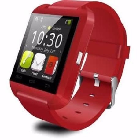 Reloj Inteligente Watch U8 Bluetooth 2.0 para Moviles Android Soporta Español - Rojo