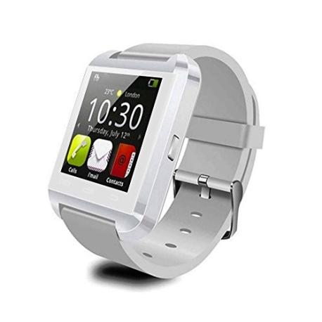 RELOJ INTELIGENTE WATCH U8 BLUETOOTH 2.0 PARA MOVILES ANDROID SOPORTA ESPAÑOL - BLANCO