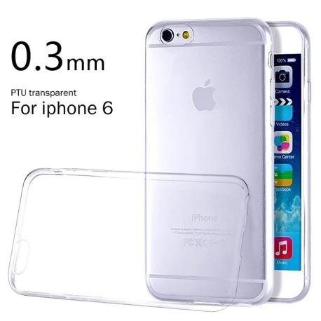 Funda silicona de 0.3mm para el iPhone 6 / 6s - Transparente