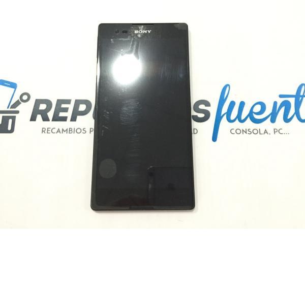 PANTALLA LCD + TACTIL CON MARCO ORIGINAL SONY XPERIA T2 ULTRA D5303 NEGRA