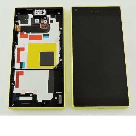 PANTALLA LCD DISPLAY + TACTIL CON MARCO ORIGINAL PARA SONY Z5 COMPACT E5823 - AMARILLA
