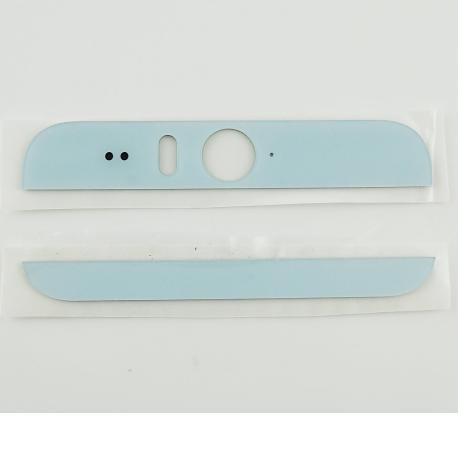 Embellecedor Superior e Inferior para HTC Desire Eye Blanco / Azul