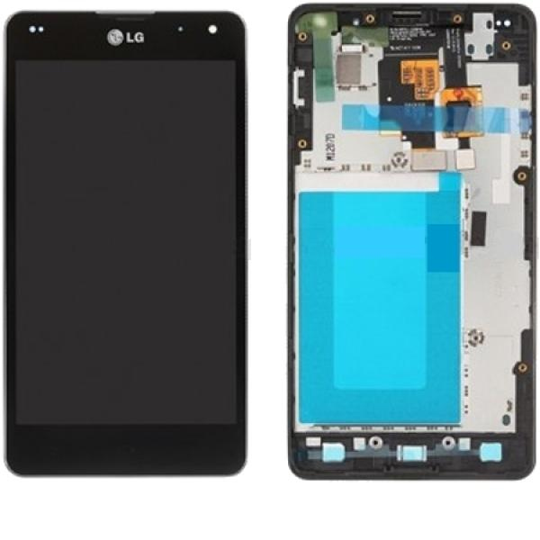 REPUESTO PANTALLA LCD DISPLAY + TACTIL ORIGINAL LG E975 OPTIMUS G CON MARCO NEGRO