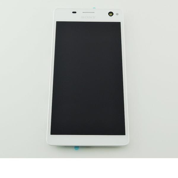 PANTALLA LCD + TACTIL CON MARCO ORIGINAL PARA SONY XPERIA C4 E5303, E5306, E5353, DUAL E5333, E5343, E5363 - BLANC