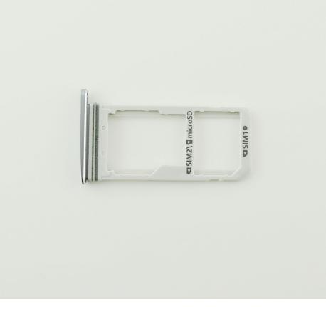BANDEJA DUAL DE TARJETA SIM Y MICROSD PARA SAMSUNG GALAXY S7 SM-G930FD - NEGRA