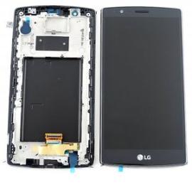 REPUESTO PANTALLA ORIGINAL TACTIL + LCD CON MARCO ORIGINAL PARA LG G4 H815 - NEGRO