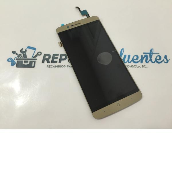 REPUESTO PANTALLA LCD DISPLAY + TACTIL ELEPHONE P8000 - ORO DORADO