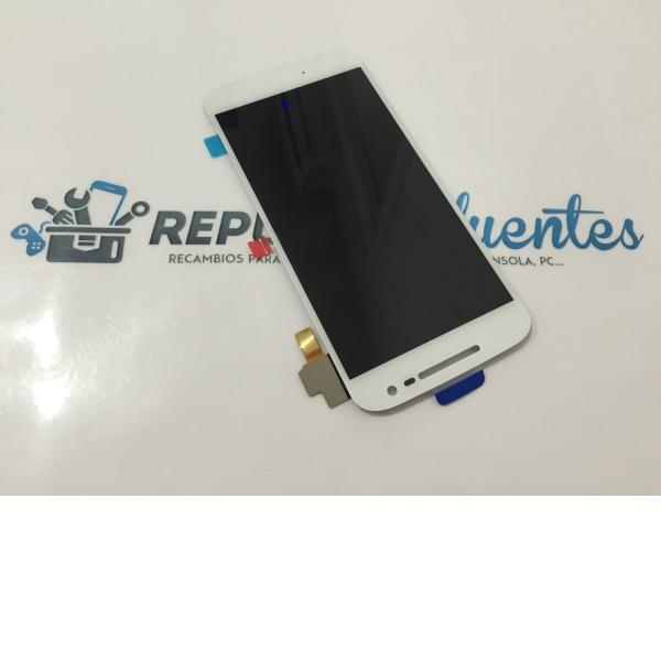 REPUESTO PANTALLA LCD DISPLAY + TACTIL MOTOROLA MOTO G4 2016 - BLANCA