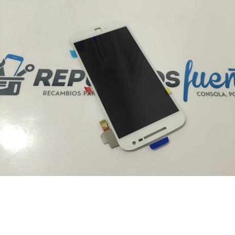 REPUESTO PANTALLA LCD DISPLAY + TACTIL MOTOROLA MOTO G4 PLUS 2016 - BLANCO