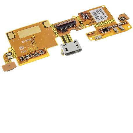 Flex Conector de Carga Micro USB y Microfono para ZTE Blade V6