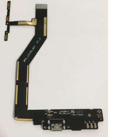 Flex de Encendido, Volumen, Microfono y Conector de Carga Micro USB para BQ Aquaris M5
