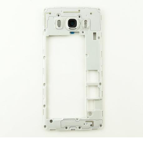Carcasa Intermedia con Lente para Samsung Galaxy J5 (2016) SM-J510F DUAL - Blanca
