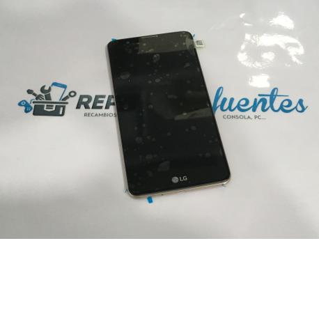 PANTALLA LCD DISPLAY + TACTIL CON MARCO ORIGINAL PARA LG STYLUS 2 K520 NEGRO