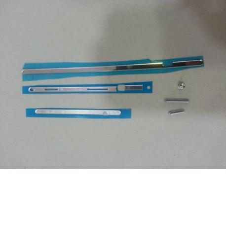 Conjunto 8 Piezas de Embellecedores para Sony Xperia M2 S50H D2303 D2305 D2306 - Blanco