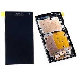 Pantalla completa lcd + tactil con marco original Sony Xperia S LT26i de desmontaje negra