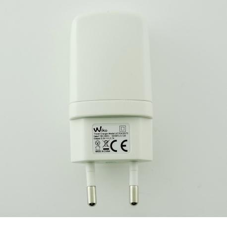 Cargador de Corriente para Wiko de 5V - 0,7A - Blanco