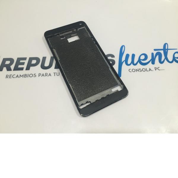 CARCASA FRONTAL ORIGINAL PARA HTC ONE M7 NEGRA - RECUPERADA