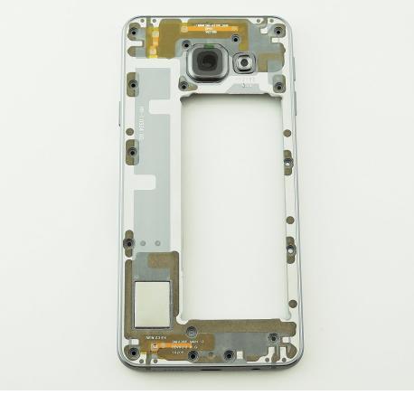 Carcasa Intermedia con Lente de Camara para Samsung Galaxy A3 SM-A310 - Versión 2016 - Negra