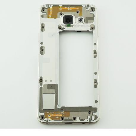 Carcasa Intermedia con Lente de Camara para Samsung Galaxy A3 SM-A310 - Versión 2016 - Oro