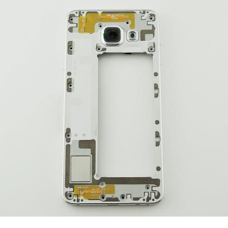 Carcasa Intermedia con Lente de Camara para Samsung Galaxy A3 SM-A310 - Versión 2016 - Blanca