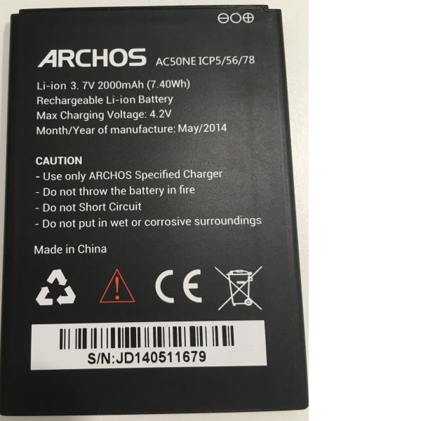 BATERIA AC50NE ICP5/56/78 ORIGINAL PARA ARCHOS 50 NEON DE 2000MAH - RECUPERADA