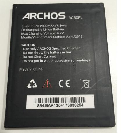BATERIA AC50PL ORIGINAL PARA ARCHOS 50 PLATINUM DE 2000MAH - RECUPERADA