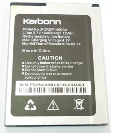 Bateria FORSP1400AA Original para Karbonn A96 de 1400mAh - Recuperada