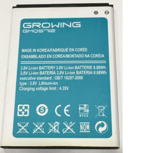 BATERIA GMQ5712 ORIGINAL PARA GROWING LION DE 2400MAH - RECUPERADA