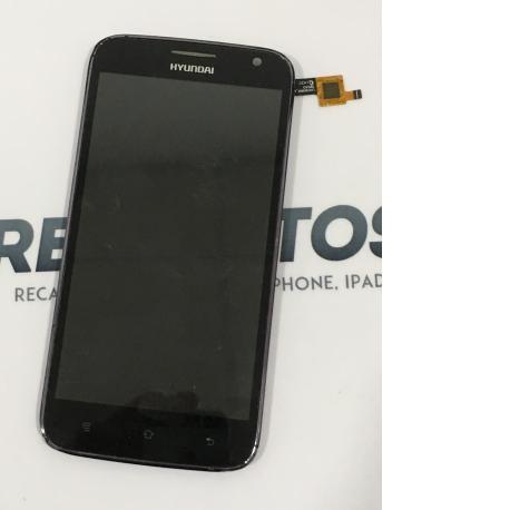 PANTALLA LCD DISPLAY + TACTIL CON MARCO PARA HYUNDAI OWL BLACK - NEGRA / RECUPERADA