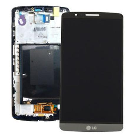 PANTALLA LCD DISPLAY + TACTIL CON MARCO ORIGINAL PARA LG G3 D855 GRIS - RECUPERADA