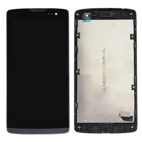 Pantalla LCD Display + Tactil + Marco Original para LG Leon H340 H320 4G LTE Negra - Recuperada