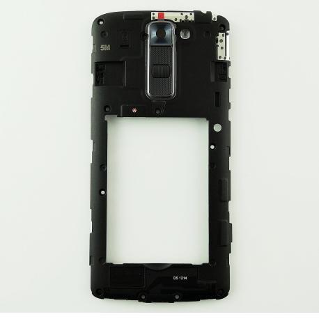 Carcasa Intermedia con Lente y Botones Original para LG K7 X210 - Negra