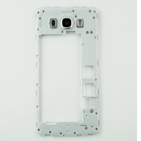 Carcasa Intermedia con Lente Original para Samsung Galaxy J7 (2016) SM-J710F - Blanco